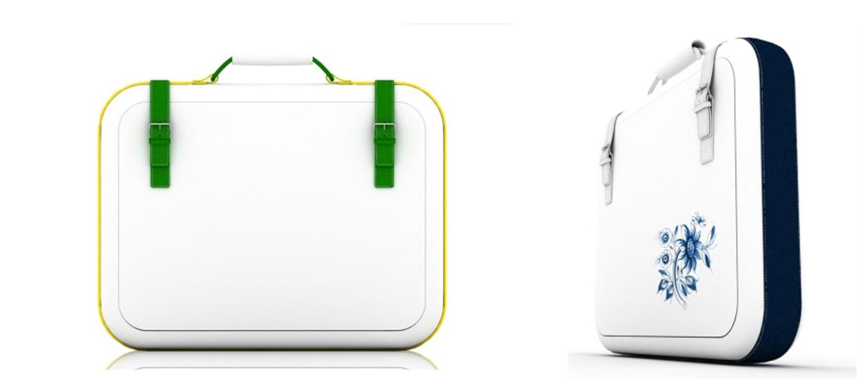 A briefcase in ceramics