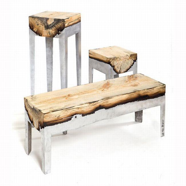 Hilla Shamia mobilier aluminium bois artisanat-german-award-2013