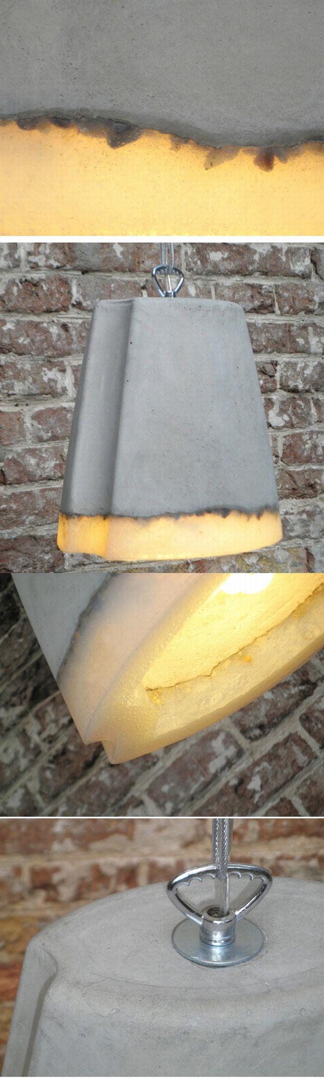Lampe en ciment