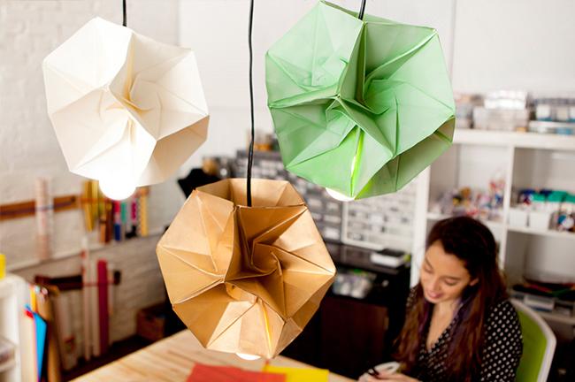 Lampe Origami DIY Brit Co