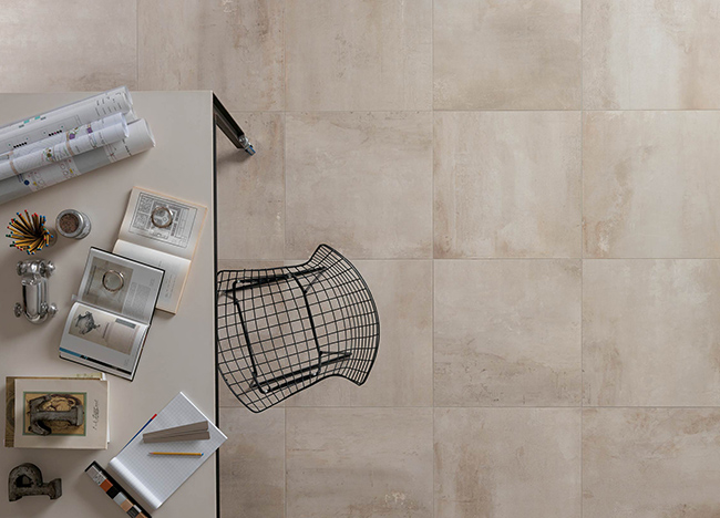Petitot Ecru tiles with grey joints