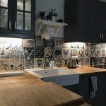 Indigo industrial kitchen