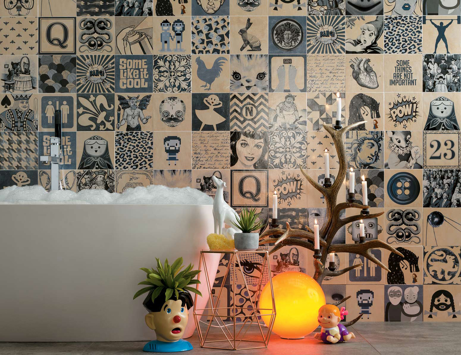 Wallpaper Look Tiles Wallpaper Effect Tiles Ceramic