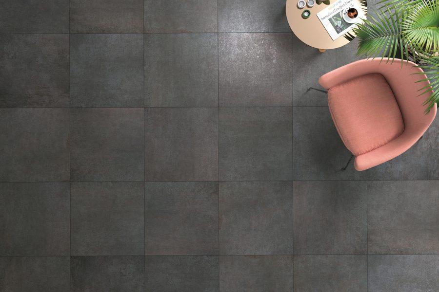 Metal effect tiles