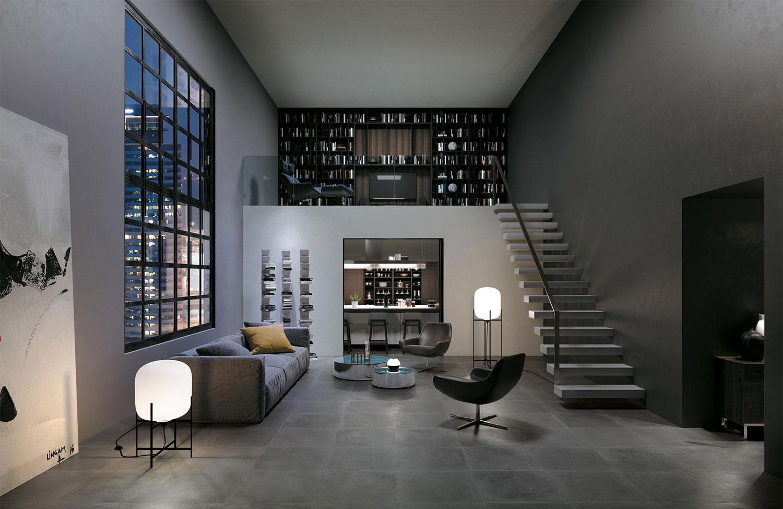 Dark Grey Living Room Tiles | Ceramic Antracite Tiles for ...